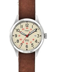 TIMEX ITALY - Black Abt116 Waterbury Stainless Steel And Leather Watch for Men - Lyst