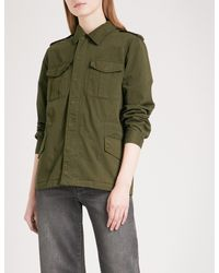 Zadig & Voltaire | Green Kayak Embroidered Cotton-twill Field Jacket | Lyst