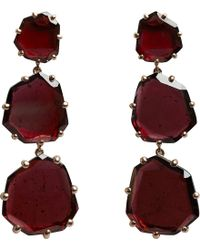 Annoushka - Purple Shard 18ct Rose-gold And Rhodolite Garnet Triple-drop Earrings - Lyst