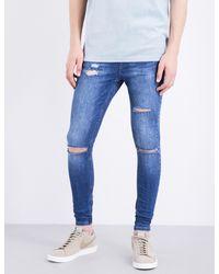 154f1df03f1 HERA Spray-on Ultra Rip Slim-fit Skinny Jeans in Blue for Men - Lyst