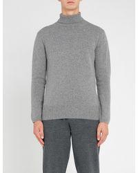 Falke - Gray Turtleneck Wool for Men - Lyst