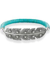Thomas Sabo - Blue Feather Love Bridge Sterling Silver Bracelet - Lyst