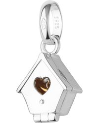 Links of London - Metallic Sterling Silver And 18ct Yellow Gold Hinged Birdhouse Charm - Lyst