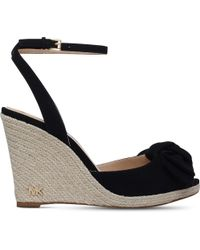 MICHAEL Michael Kors | Black Willa Suede Wedge Espadrilles | Lyst