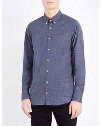 Tommy Hilfiger   Blue Brad Slim-fit Cotton Shirt for Men   Lyst