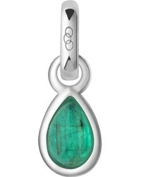 Links of London - Green May Sterling Silver And Emerald Mini Birthstone Charm - Lyst