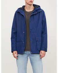 Barbour - Blue Southway Hooded Shell Jacket for Men - Lyst