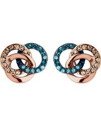 Links of London - Metallic Treasured 18ct Rose-gold Vermeil And Diamond Stud Earrings - Lyst