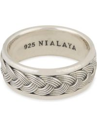 Nialaya - Metallic Woven Cable Ring - Lyst