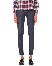 Claudie Pierlot | Blue Petale Skinny Mid-rise Jeans | Lyst