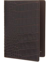 Smythson | Brown Mara Leather Passport Cover for Men | Lyst