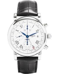 Montblanc | Metallic 107113 Star Stainless Steel And Leather Watch for Men | Lyst