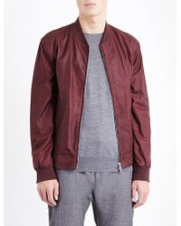 Brunello Cucinelli - Multicolor Faux-leather Bomber Jacket for Men - Lyst