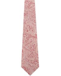Etro | Red Ornate Paisley Silk Tie for Men | Lyst