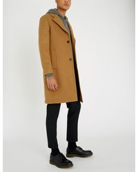 67efbefa2fb The Kooples Relaxed-fit Wool-blend Coat for Men - Lyst