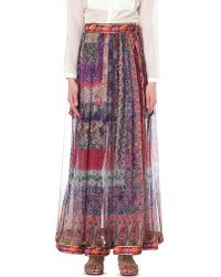 Etro | Multicolor Printed Maxi Skirt | Lyst