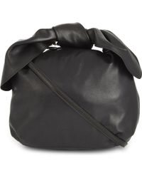 Simone Rocha | Black Bow Nappa Leather Shoulder Bag | Lyst