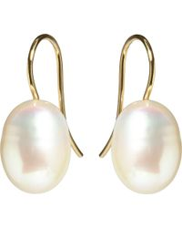 Annoushka | White Classic Baroque Pearl And 18ct Yellow-gold Drop Earrings | Lyst