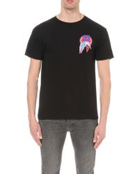Obey | Black Nocturnal Activities Cotton-jersey T-shirt for Men | Lyst