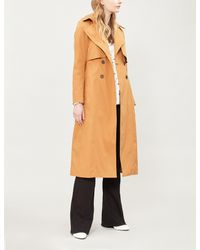 ba8d0eadcc8c Ba sh Cleder Double-breasted Stretch-cotton Trench Coat in Orange - Lyst