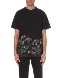 Givenchy | Black Screeching Monkey Print Cotton-jersey T-shirt for Men | Lyst