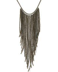 Brunello Cucinelli - Multicolor Bead & Ball Chain Necklace - Lyst