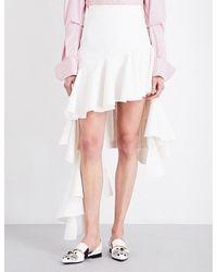 Jacquemus | White Camargue Ruffled Cotton-blend Skirt | Lyst