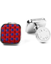 Thomas Pink - Blue Warren Woven Button Cufflinks, Men's, Size: 1 Size, Purple/pink for Men - Lyst