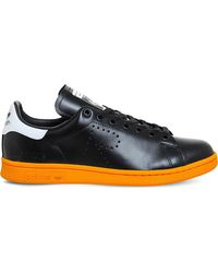 Adidas By Raf Simons | Black Stan Smith X Raf Simons Leather Trainers | Lyst