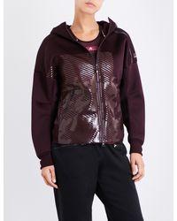 Adidas By Stella McCartney - Purple Z.n.e. Knit-lined Jersey Hoody - Lyst