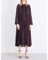 Chloé | Purple Cherry-print Cotton And Silk-blend Dress | Lyst