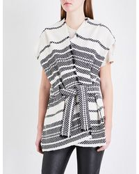 IRO | Black Vikana Striped Woven Gilet | Lyst