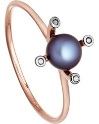 Astley Clarke - Blue Black Pearl Pluto 14ct Rose Gold Ring - Lyst