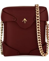 MANU Atelier - Red Micro Pristine Leather Shoulder Bag - Lyst