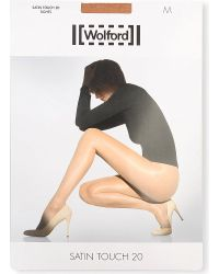 Wolford | Natural Satin Touch 20 Nylon-blend Tights | Lyst