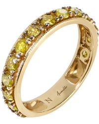 Annoushka | Metallic Dusty Diamonds 18ct Yellow-gold And Diamond Eternity Ring | Lyst