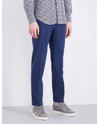 Slowear | Blue Slim-fit Tapered Stretch-cotton Trousers for Men | Lyst