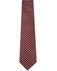 Ermenegildo Zegna | Red Geometric Floral Pattern Silk Tie for Men | Lyst
