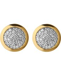 Links of London - Metallic Diamond Essentials Gold And Diamond Stud Earrings - Lyst