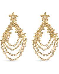 Oscar de la Renta - Metallic Star Fish Swarovski Crystal Drop Earrings - Lyst