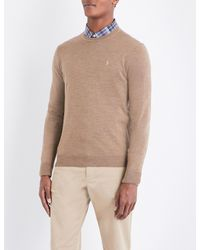 Polo Ralph Lauren - Brown Fine-knit Wool Jumper for Men - Lyst
