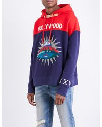 4bdd0e12 Gucci Hollywood Ufo Cotton-jersey Hoody in Blue for Men - Lyst