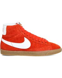 Nike | Red Blazer Mid-top Suede Trainers for Men | Lyst