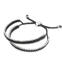 Links of London | Double Wrap Friendship Bracelet - Black for Men | Lyst