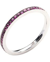 Annoushka | Metallic 18ct White Gold And Ruby Bangle | Lyst
