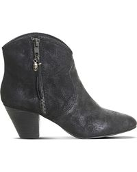 Ash | Black Jess Zipped Suede Boots | Lyst