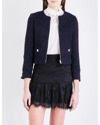 Claudie Pierlot | Blue Vicky Tweed Jacket | Lyst