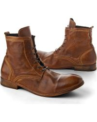 H by Hudson | Brown Swathmore Leather Ankle Boots for Men | Lyst
