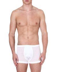 Zimmerli | White Stretch-cotton Trunks for Men | Lyst