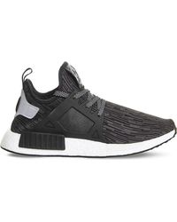 cb82eba7132a73 Lyst - adidas Originals Nmd R1 Mesh Trainers in Black for Men